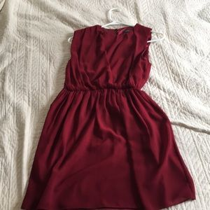 THEME Red cocktail dress.